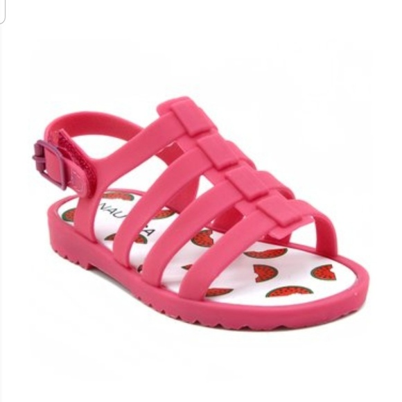 Nwt Pink Girls Rubber Sandals Size 8
